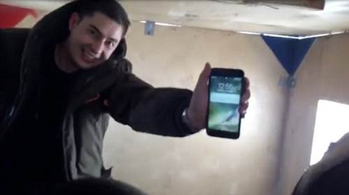 iPhone survived in Arctic river Credits: @emfedor1983/The Siberian Times