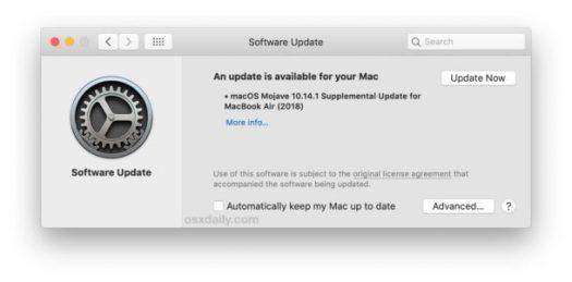 Apple Rilis Pembaruan Tambahan Untuk MacBook Air 2018