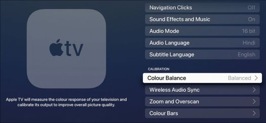 Cara Mengubah Keseimbangan Warna Apple TV