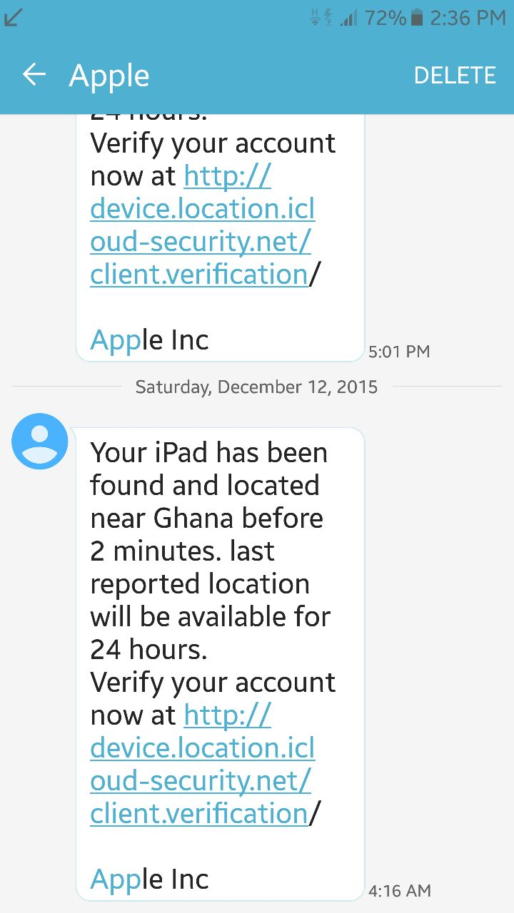 Alert: iPhone and iPad Scam Text Message asks for Apple ID
