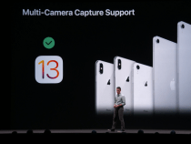 With iOS 13 we will be able to record a video using both cameras at the same time
