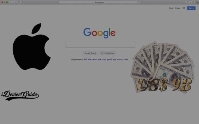 Google Pays Apple US$ 9 Billion to stay Default Search Engine on Safari