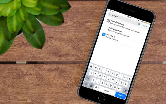 How to Turn Auto Brightness Off on iPhone running iOS 12