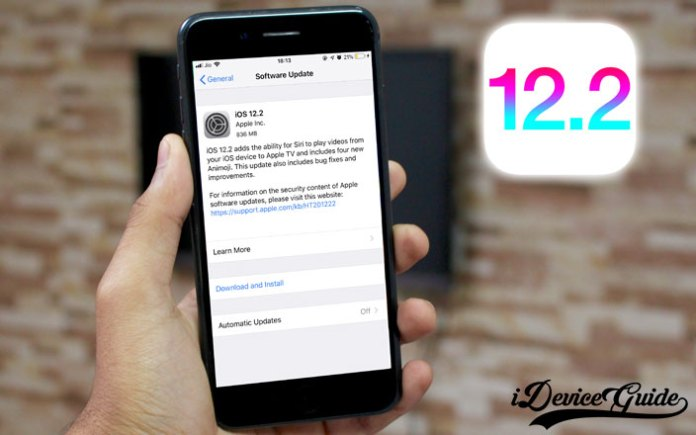 how to upgrade to ios-12-2