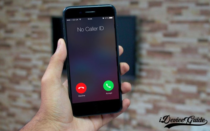 how to block caller id number private call iphone