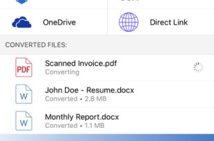 Convert your PDF files to Word