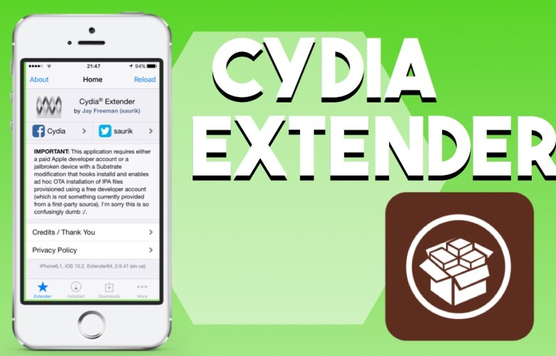 cydia Ext3nder Re-sign applications without computer