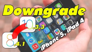 Downgrade iOS 10.3.3 to iOS 8.4.1 - Jailbreak