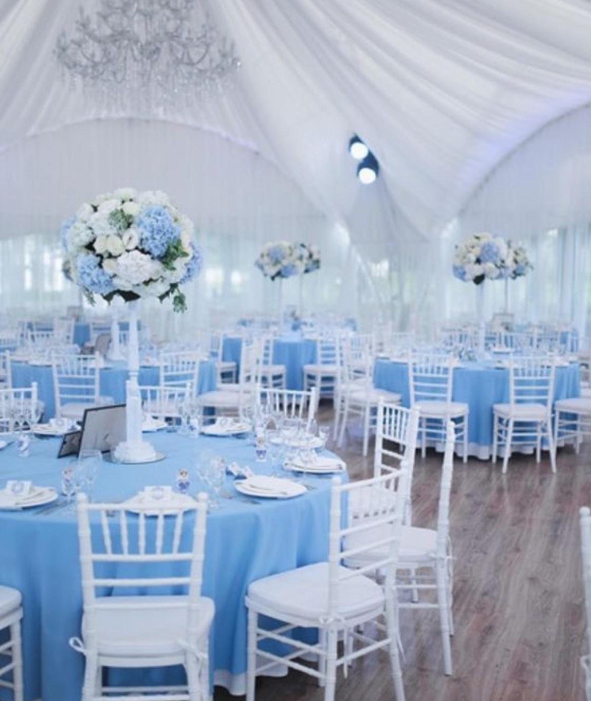 Konsep Dekorasi Pesta Pernikahan Berwarna Biru Idewedding