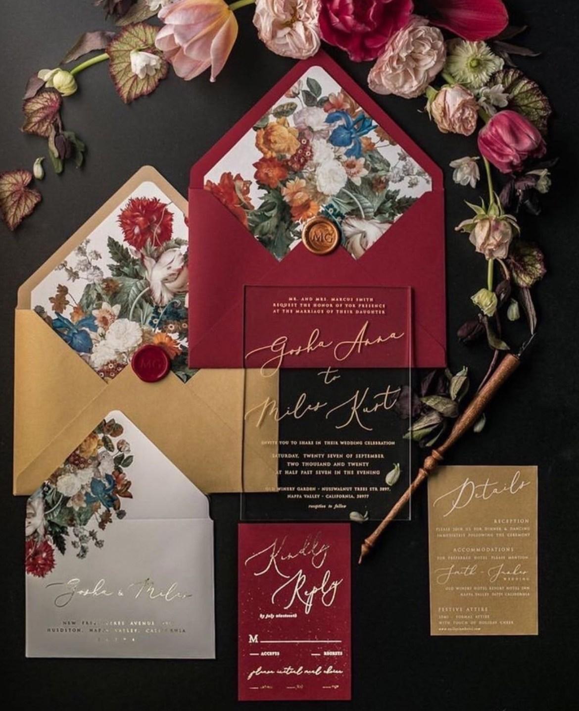 Persiapan Memilih Undagan Yang Mewah dan memiliki Aksen Bunga Untuk Pesta Pernikahan