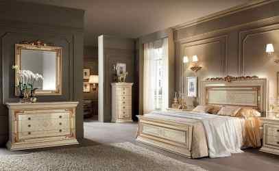 bedroom classic luxury ivory furniture bedrooms leonardo gold bed italian finishings classics idfdesign p08 beds wood dresser collection