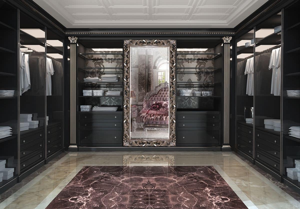 Customizable walk-in closet in