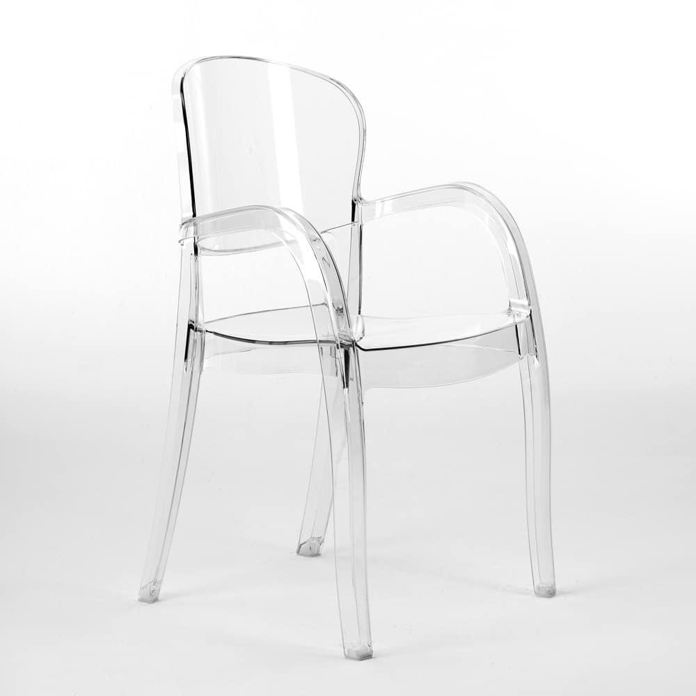 Sedie Moderne In Plastica.Sedia Plastica Trasparente Sedia M 083vt Mobili Di Plastica Sedia
