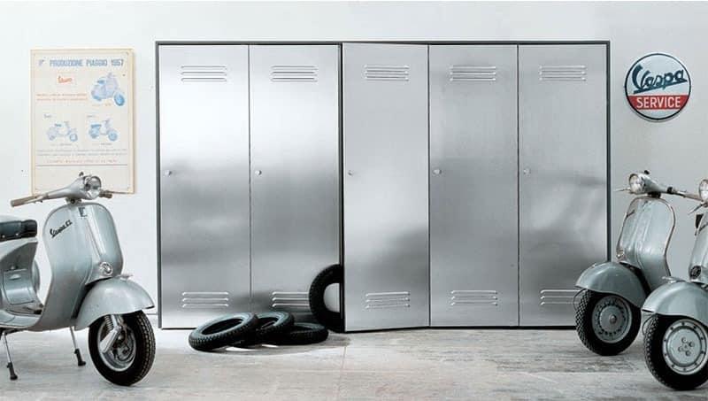 Schrank Mit Stahltüren Für Garagen Und Fitnessstudios