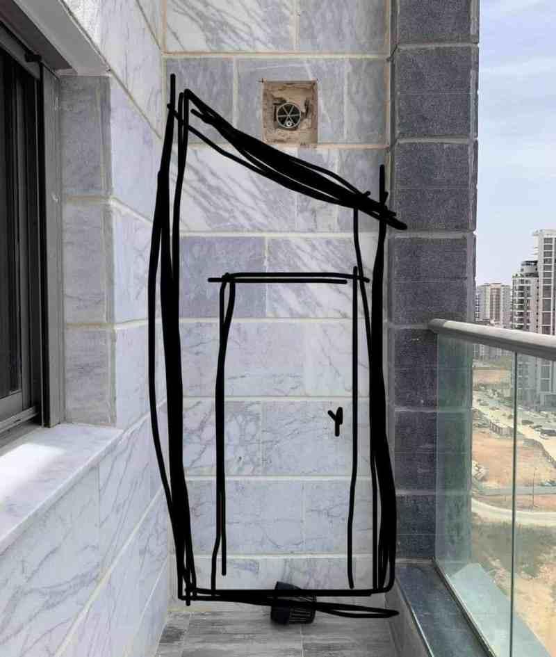 מחסן פנל במרפסת