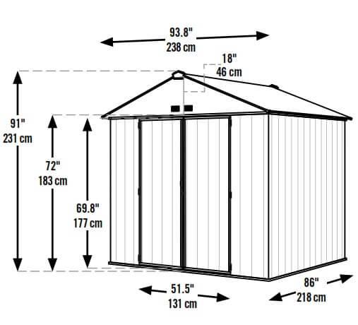 מחסן מתכת גבוה ואיכותי EZEE ARROW USA