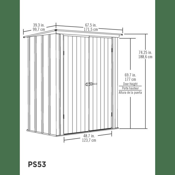 שרטוט מחסן מתכת ARROW PS53