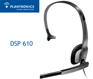 Plantronics DSP 610 USB Headset and noise cancelling mic - Included with the standard Dragon Dictate package