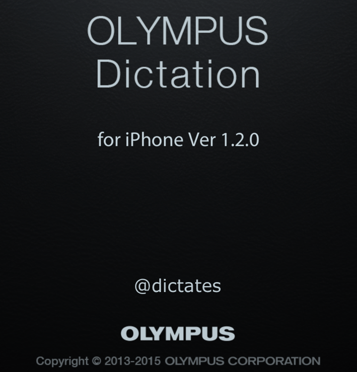 Olympus Dictation App ODDS iPhone Android