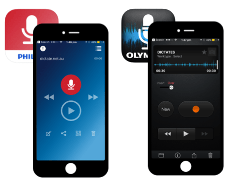 Olympus ODDS iPhone - Philips SpeechLive iPhone