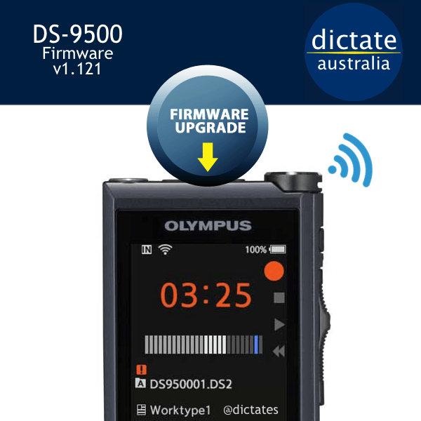 Download the latest Olympus DS 9500 firmware update free v1.121