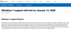 Olympus ODMS R7 Support on Windows 7 PCs Ends 14 January 2020