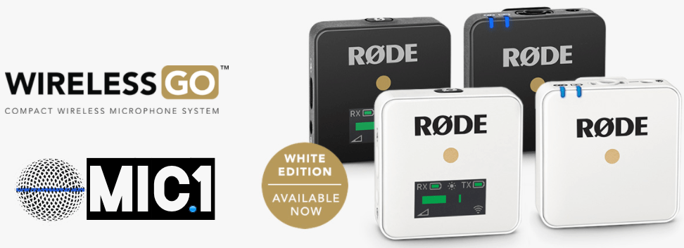 Buy Rode Wireless GO from MIC1 Australia in black or white