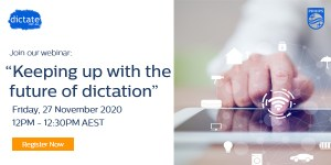 Philips Dictation Australia free webinar Speechlive