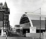 The new roofed Swansea Market looking down Orange Street 1957
