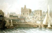 swansea castle an early view from St Thomas