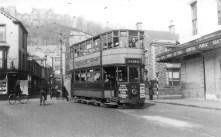 A tram in Craddock Street