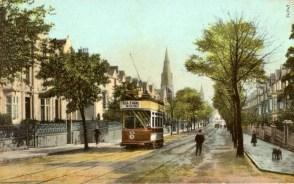 Walters Road Swansea - early postcard