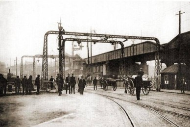 North Dock bridge on Quay Parade at swansea around 1914