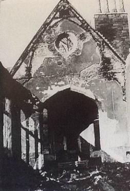 St Marys Church Swansea 1940s interior