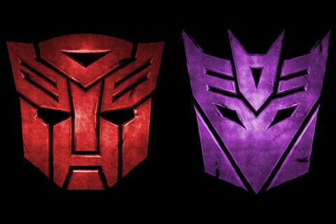 Autobotsz Decepticons Logos Red Blue Digital Citizen