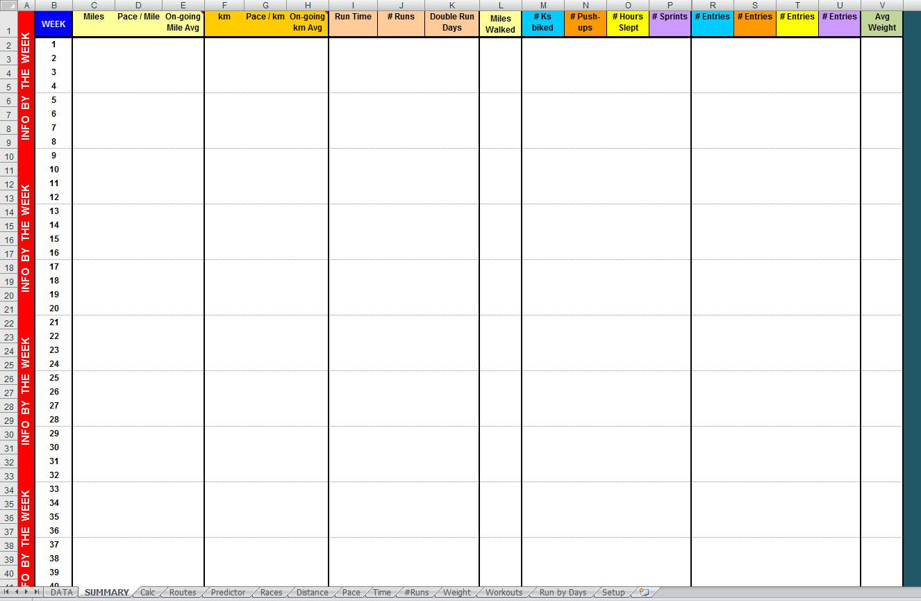 Free Advanced Year Long Excel Running Log Digital Citizen