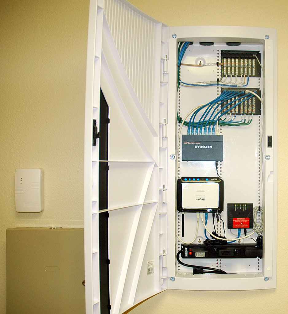 medium resolution of  structured wiring panel for telephone and data service open house open open house closed