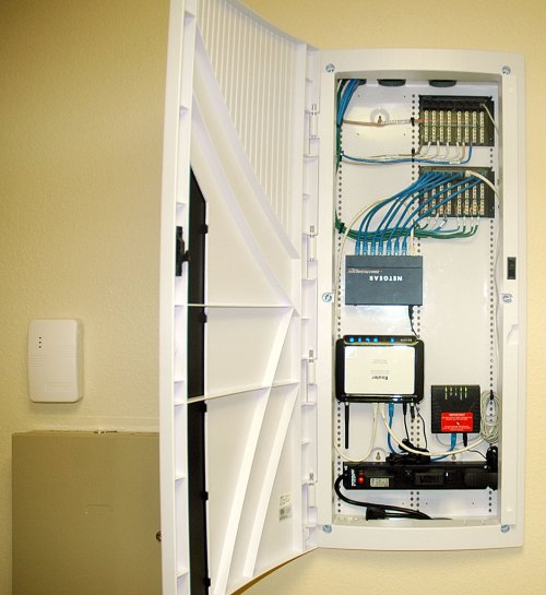small resolution of  structured wiring panel for telephone and data service open house open open house closed