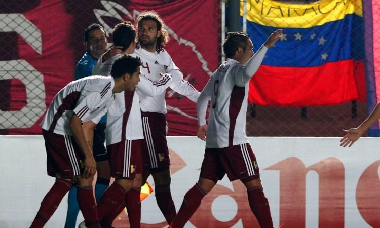 La Vinotinto derrotó a Chile 2-1 en cuartos de final de la Copa América 2011.
