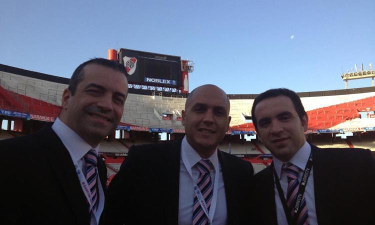 Carlos Domingues, Daniel Chapela y Bruno Gómez.
