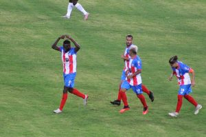 Wilson Mena celebra su gol ante Alianza Lima.