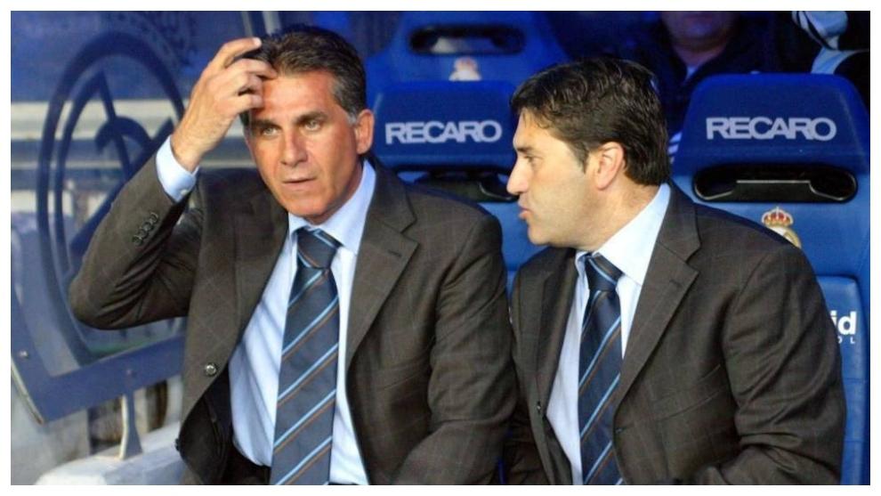 José Peseiro, acompañando a Carlos Queiroz en el Real Madrid.