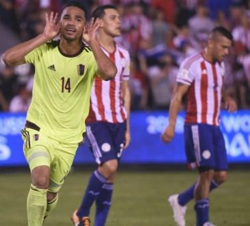 Yangel Herrera en la victoria de Venezuela ante Paraguay por el Premundial 2018..
