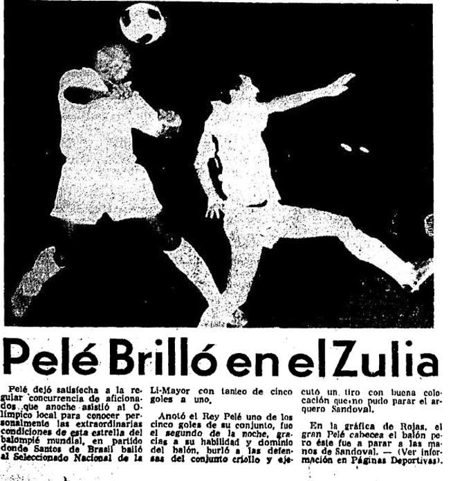 Pelé en Maracaibo. Foto de Diario Panorama.