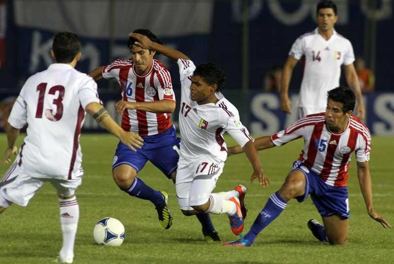 El primer triunfo de Venezuela ante Paraguay en Asunción ocurrió en el Premundial 2014.