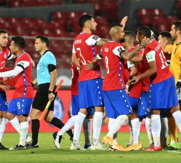 Chile en su victoria 2-0 sobre Perú.