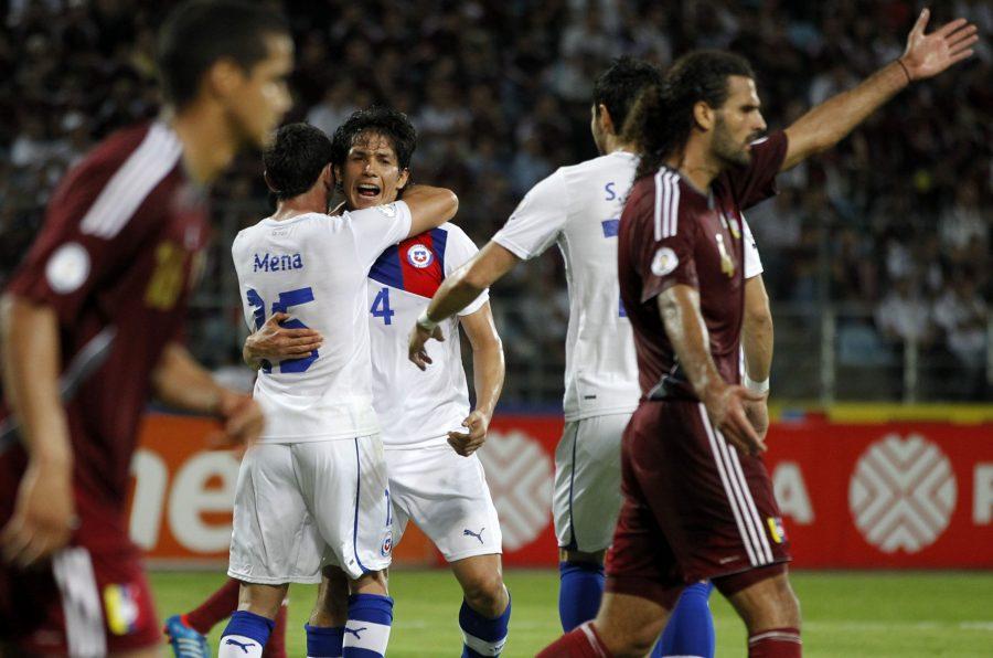 Venezuela vs Chile en el Premundial 2014.