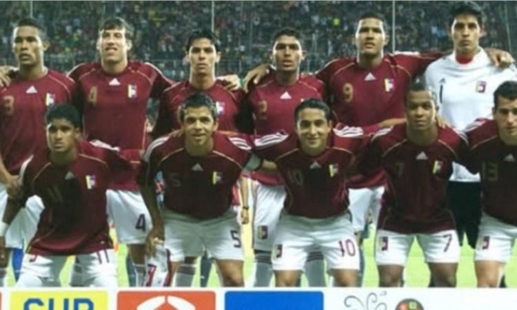El equipo de Venezuela que clasificó al Mundial de Egipto 2009.