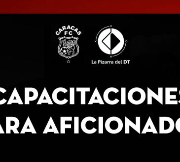 La Pizarra del DT y Caracas FC, juntos en cursos para capacitación.