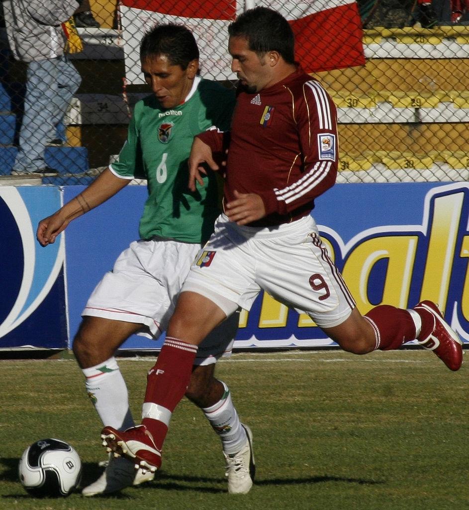 Giancarlo Maldonado en el Bolivia 0-1 Venezuela de 2009